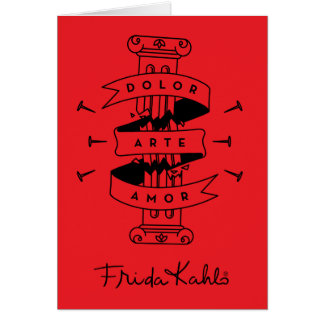 Frida Kahlo | Pain Art Love Card