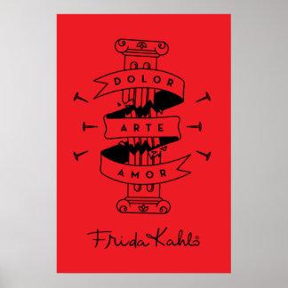 Frida Kahlo | Pain Art Love Poster