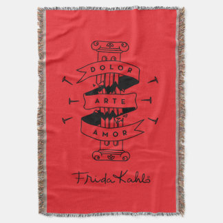 Frida Kahlo | Pain Art Love Throw Blanket