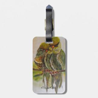 Frida Kahlo Painted Birds Luggage Tag