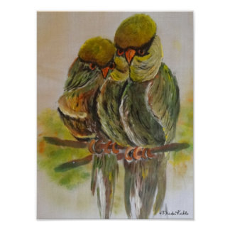 Frida Kahlo Painted Birds Poster