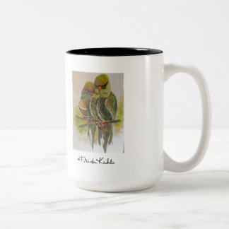 Frida Kahlo Painted Birds Two-Tone Coffee Mug