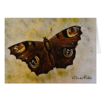 Frida Kahlo Painted Butterfly Card