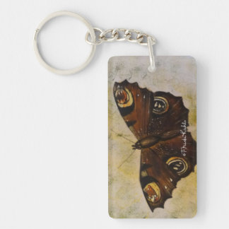 Frida Kahlo Painted Butterfly Key Ring