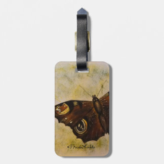 Frida Kahlo Painted Butterfly Luggage Tag