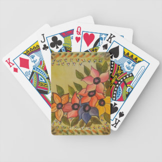 Frida Kahlo Painted Flores Bicycle Playing Cards