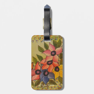 Frida Kahlo Painted Flores Luggage Tag