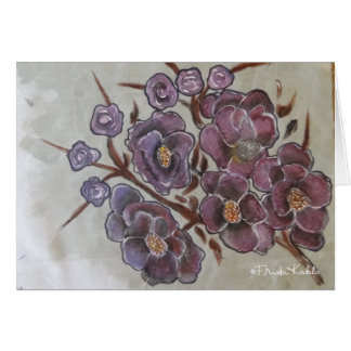 Frida Kahlo Painted Flowers Card