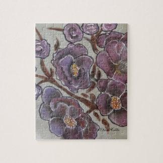 Frida Kahlo Painted Flowers Jigsaw Puzzle