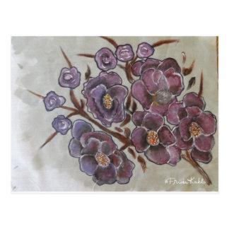 Frida Kahlo Painted Flowers Postcard