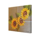 Frida Kahlo Painted Sunflowers Canvas Print