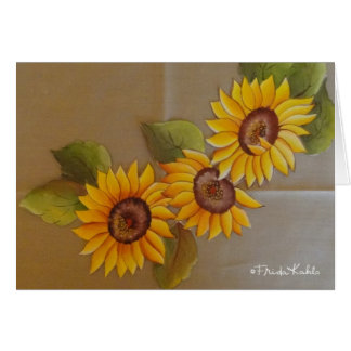Frida Kahlo Painted Sunflowers Card
