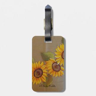 Frida Kahlo Painted Sunflowers Luggage Tag