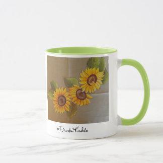 Frida Kahlo Painted Sunflowers Mug