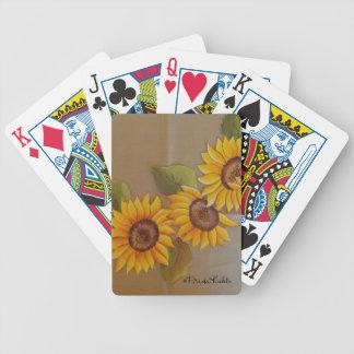 Frida Kahlo Painted Sunflowers Poker Deck