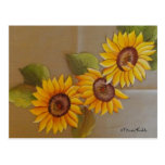Frida Kahlo Painted Sunflowers Post Card
