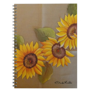 Frida Kahlo Painted Sunflowers Spiral Notebook