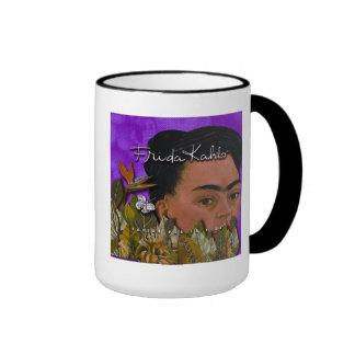 Frida Kahlo Pasion Por La Vida 2 Ringer Coffee Mug
