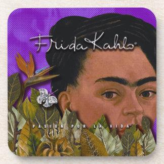Frida Kahlo Pasion Por La Vida Drink Coaster