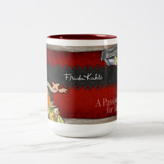 Frida Kahlo - Passion for Life Two-Tone Coffee Mug