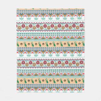 Frida Kahlo   Patrón de Colores Fleece Blanket