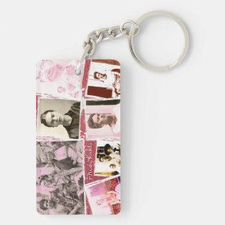 Frida Kahlo Photo Montage Key Ring