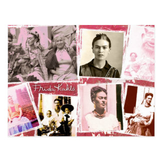 Frida Kahlo Photo Montage Postcard
