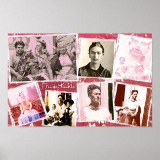 Frida Kahlo Photo Montage Poster