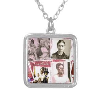 Frida Kahlo Photo Montage Silver Plated Necklace