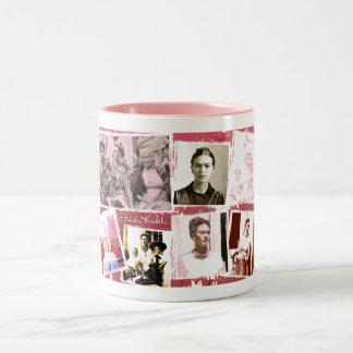Frida Kahlo Photo Montage Two-Tone Coffee Mug