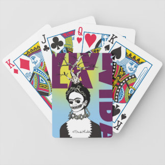 Frida Kahlo Pop Art Portrait Bicycle Playing Cards