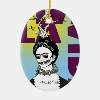 Frida Kahlo Pop Art Portrait Christmas Ornament