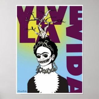 Frida Kahlo Pop Art Portrait Poster