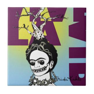 Frida Kahlo Pop Art Portrait Tile