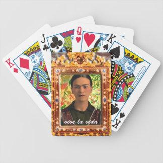Frida Kahlo Reflejando Bicycle Playing Cards