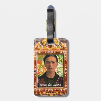 Frida Kahlo Reflejando Luggage Tag