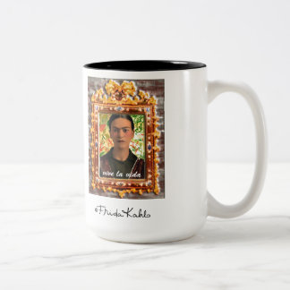 Frida Kahlo Reflejando Two-Tone Coffee Mug