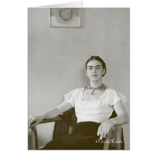 Frida Kahlo Seated w/ Frida Painting Card