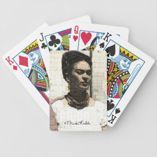 Frida Kahlo Textile Portrait Bicycle Playing Cards