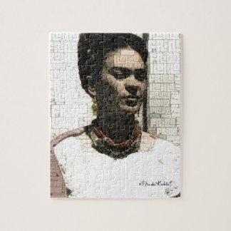 Frida Kahlo Textile Portrait Jigsaw Puzzle