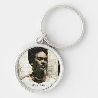 Frida Kahlo Textile Portrait Key Ring