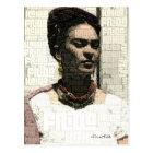 Frida Kahlo Textile Portrait Postcard