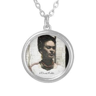 Frida Kahlo Textile Portrait Silver Plated Necklace