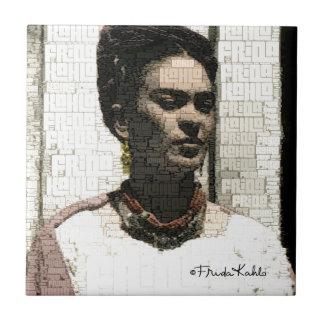 Frida Kahlo Textile Portrait Tile
