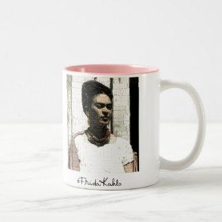 Frida Kahlo Textile Portrait Two-Tone Coffee Mug