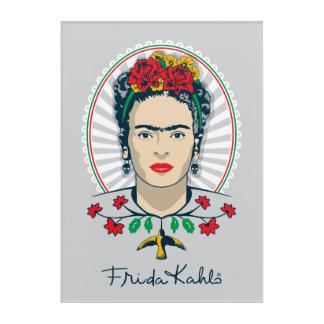 Frida Kahlo | Vintage Floral Acrylic Wall Art