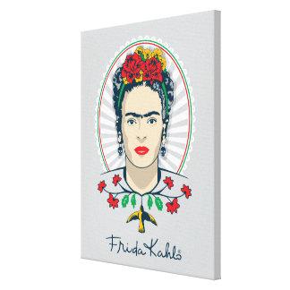 Frida Kahlo | Vintage Floral Canvas Print