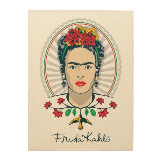 Frida Kahlo | Vintage Floral Wood Wall Art