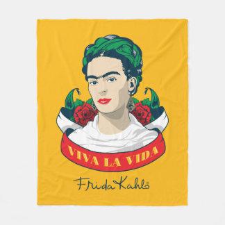 Frida Kahlo   Viva la Vida Fleece Blanket