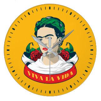 Frida Kahlo | Viva la Vida Large Clock